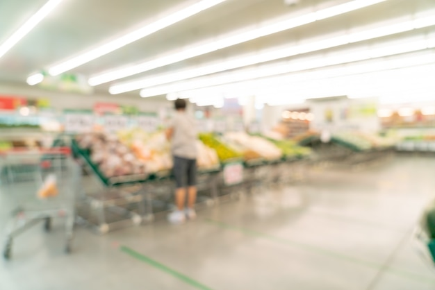 Flou abstrait et supermarché défocalisé