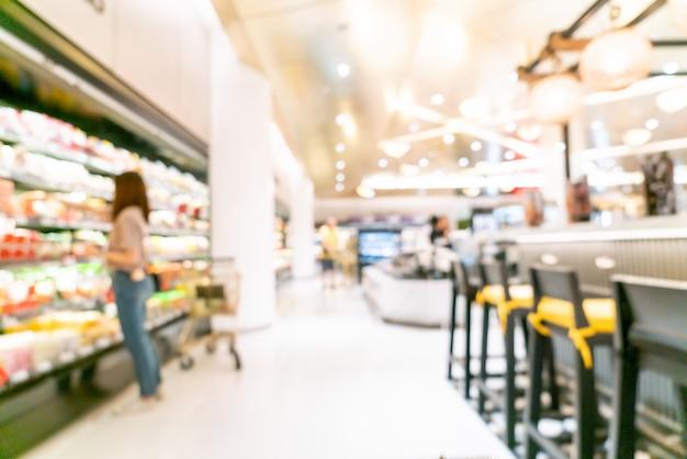 Flou abstrait en supermarché