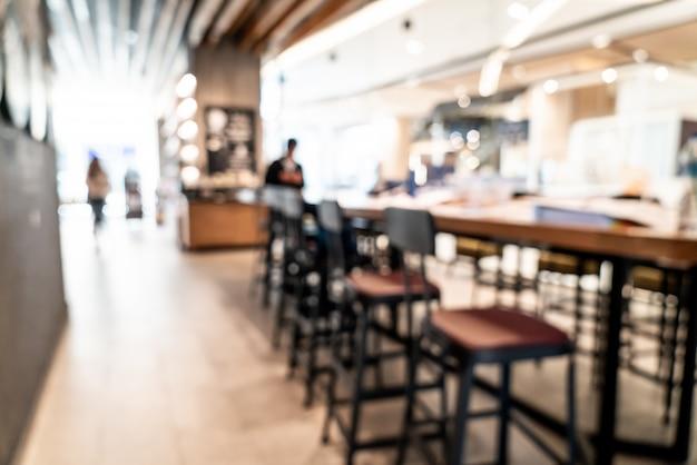 Flou et défocalisé dans le café café et restaurant