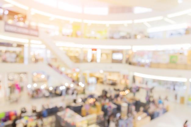 Flou fond d'image du hall dans le centre commercial avec des personnes