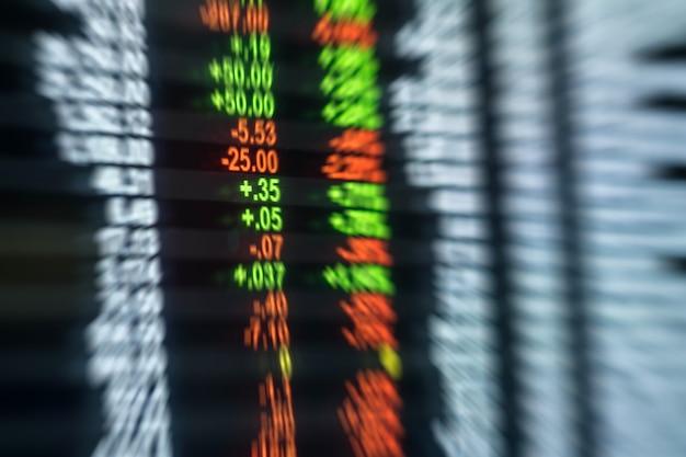 Flou de mouvement de fond de carte de stock d'investissement en investissement