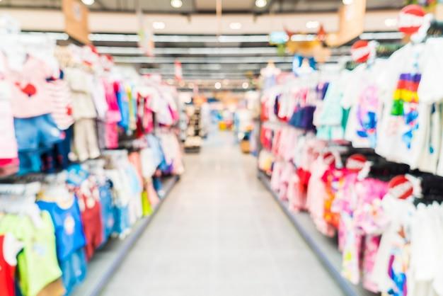 Flou panier étagères des supermarchés boutique