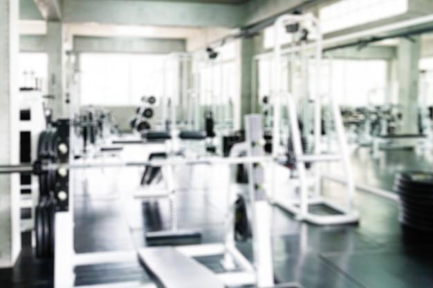 Flou de la salle de fitness pour le fond