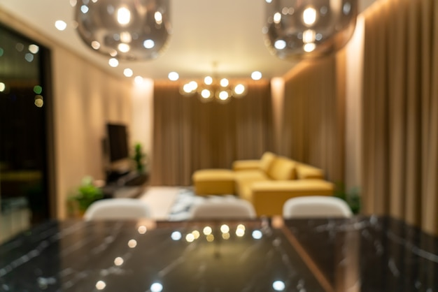Flou salon moderne et luxueux
