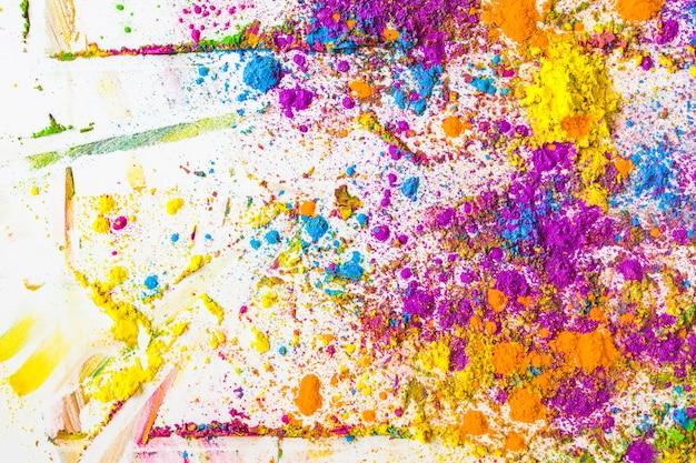 Flous de couleurs sèches brillantes violettes, bleues, oranges et jaunes