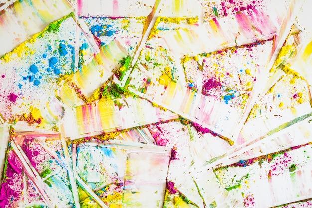 Flous de différentes couleurs vives et sèches