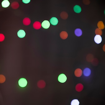 Flous de nombreuses lumières colorées