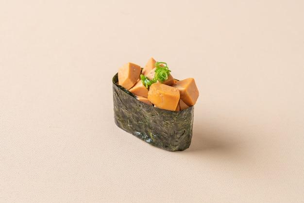 Foie de lotte sur riz à sushi