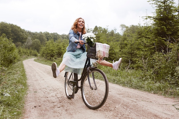 La folie pendant la balade à vélo
