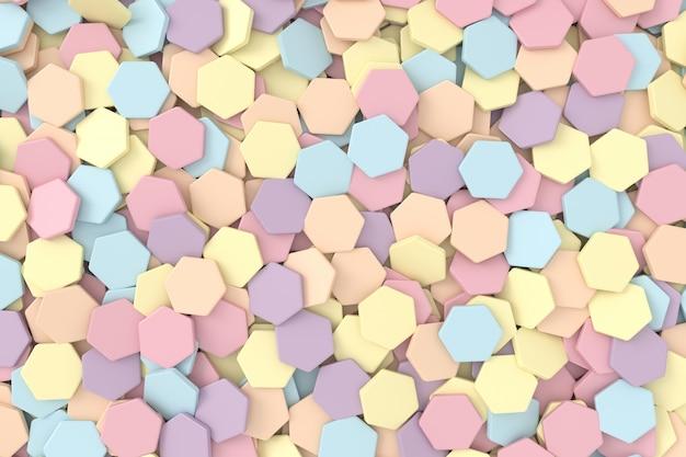 Fond 3d de forme hexagonale