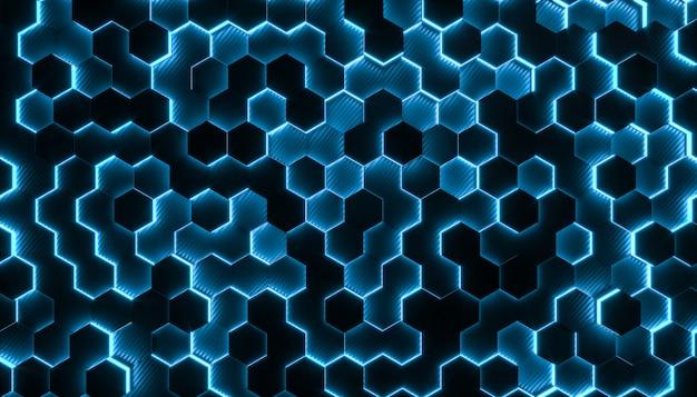 Fond 3d géométries hexagonales