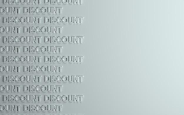 Fond 3d de remise ou de vente