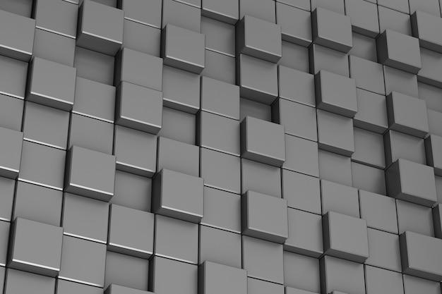 Fond d'abstraction de cubes noirs