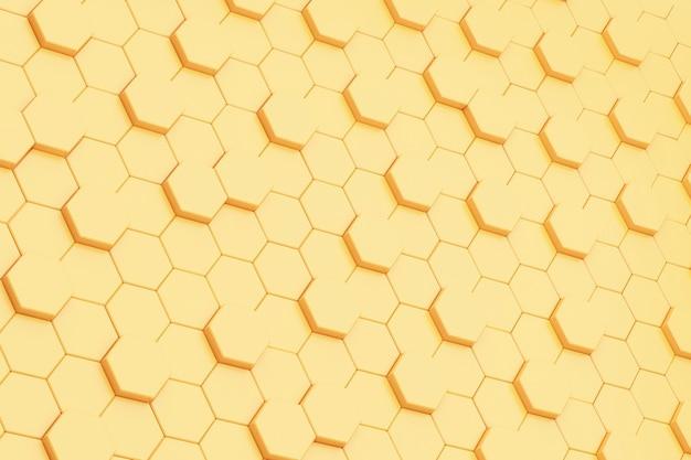 Fond d'abstraction d'hexagones jaunes
