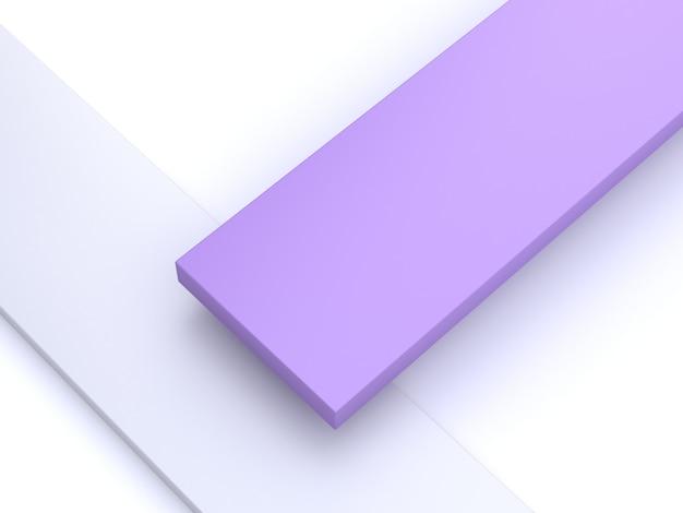 Fond abstrait 3d minimaliste violet, forme 3d rendu 3d
