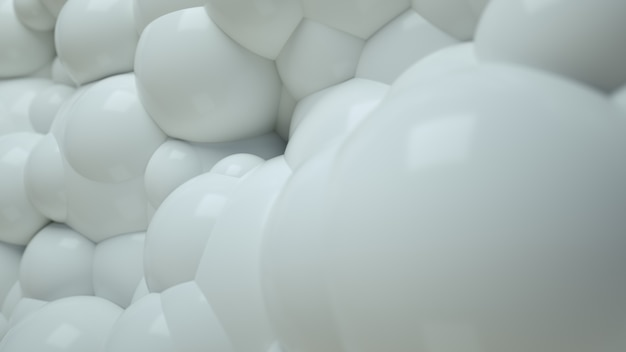 Fond abstrait blanc bubble balls 3d