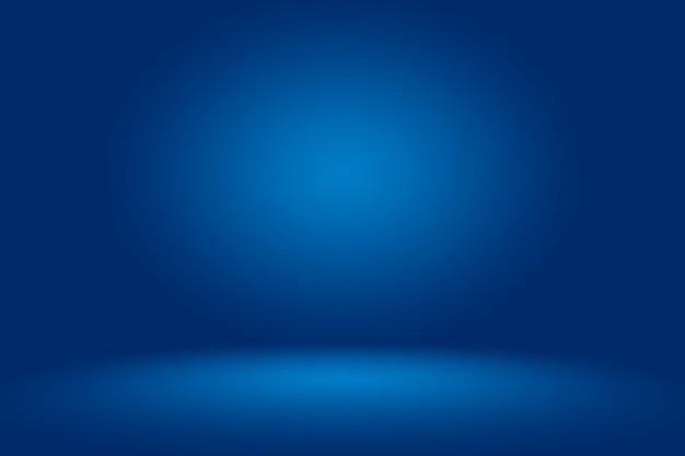 Fond abstrait bleu bleu foncé lisse avec vignette noire studio