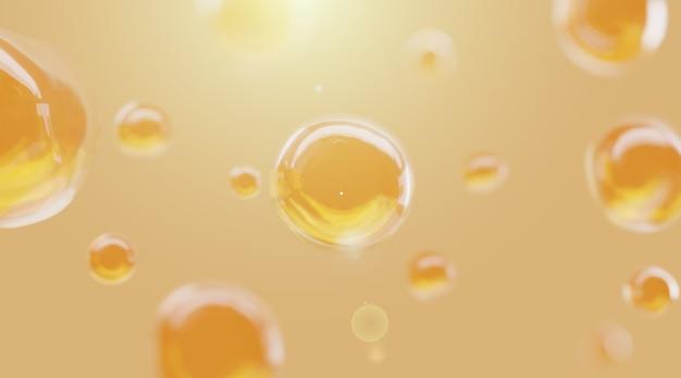 Fond abstrait bulle jaune