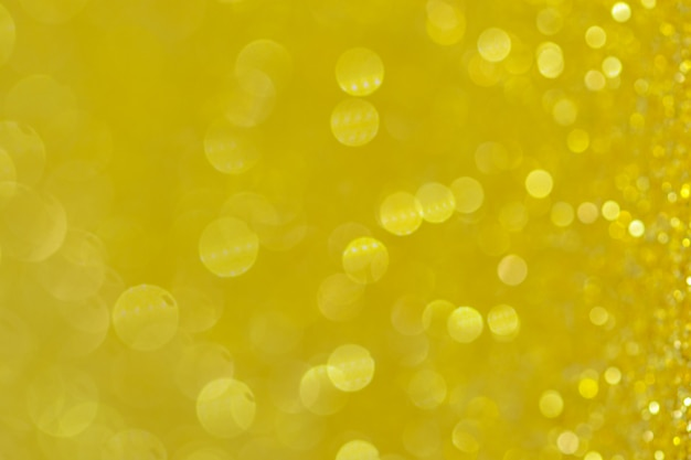 Fond abstrait cercle bokeh jaune