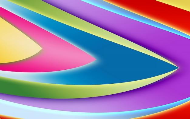 Fond abstrait de couleur vive, formes lisses et géométrie. rayures courbes colorées