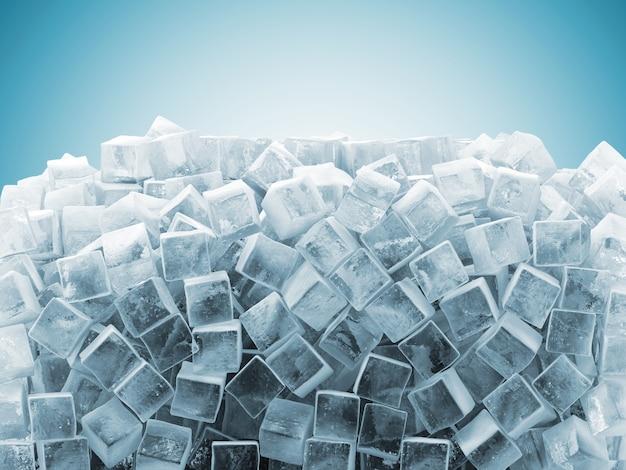Fond abstrait de cubes de glace