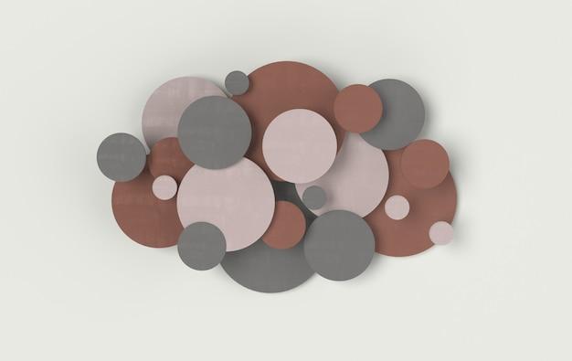 Fond abstrait de disque rond panneau cellulaire moderne avec des éléments de décoration en béton de cercles