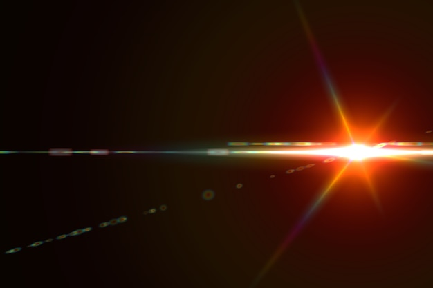 Fond abstrait flare lentille numérique rougeoyante