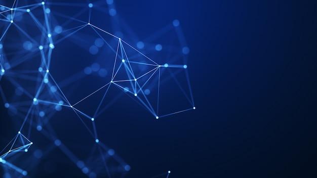 Fond abstrait formes géométriques bleues plexus