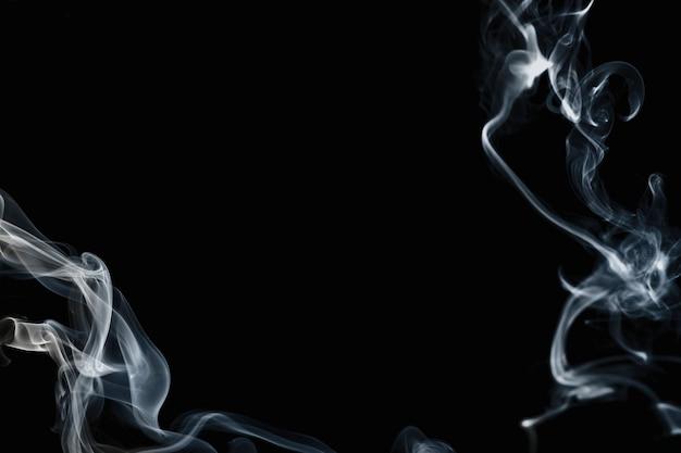 Fond abstrait de fumée, conception cinématographique de frontière de texture foncée