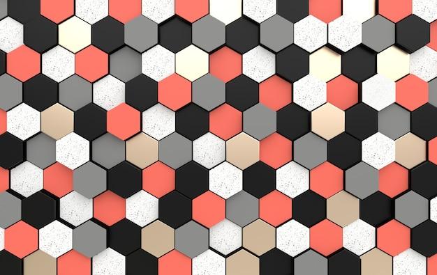 Fond abstrait hexagonal effet de profondeur de champ panneau 3d en nid d'abeille moderne avec hexagone