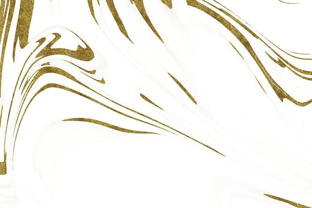 Fond abstrait en marbre blanc et or