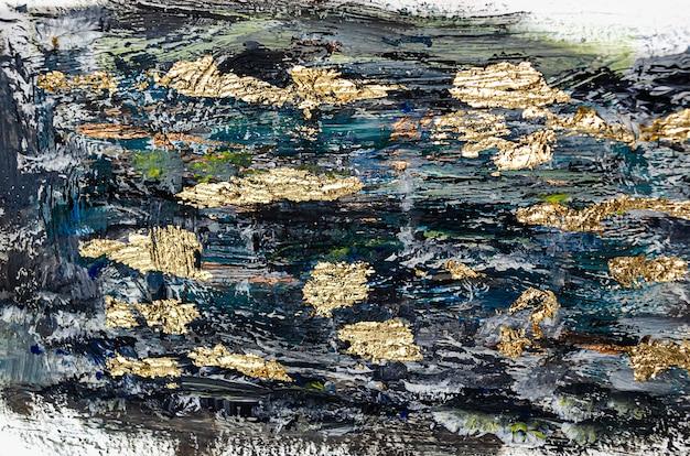 Fond abstrait marbré noir et or motif de marbre liquide design papier d'emballage papier peint mélange...