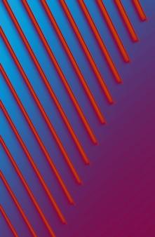 Le fond abstrait métal coloré. illustration 3d