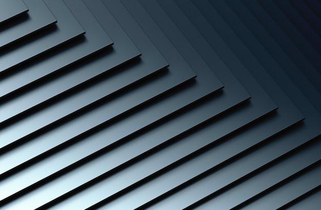 Le fond abstrait en métal. illustration 3d.