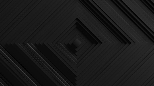 Fond abstrait d'oscillation de stores carrés. . surface ondulée des murs 3d. déplacement d'éléments géométriques.