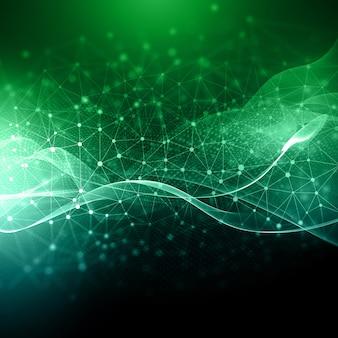 Fond abstrait avec des points et des lignes de connexion