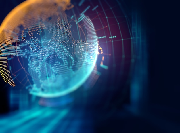 Fond abstrait de la technologie futuriste de la terre