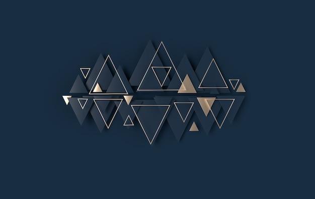 Fond abstrait triangle losange panneau moderne avec décoration trigones en céramique ou en béton