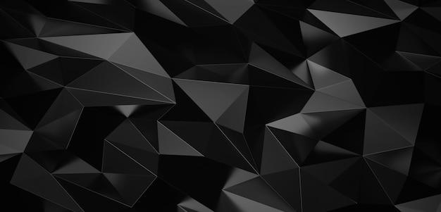 Fond abstrait triangles géométriques en métal noir