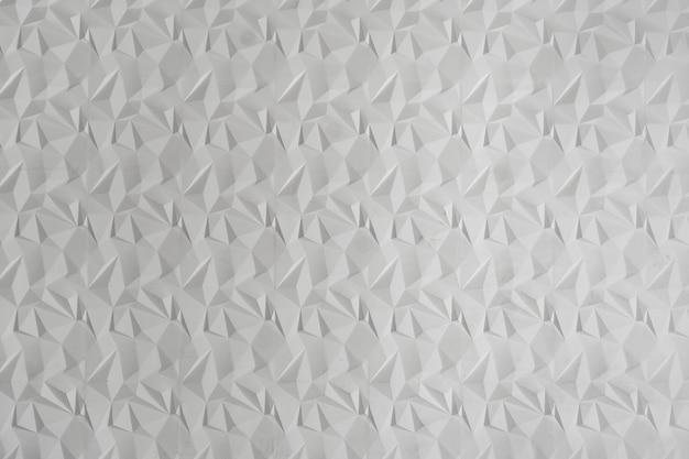 Fond abstrait triangulaire moderne blanc, surface grunge