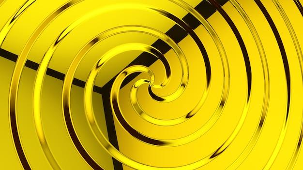 Fond abstrait verre jaune rendu 3d
