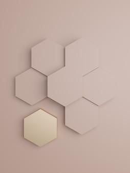 Fond d'affichage de produit de luxe de rendu 3d pour les soins de santé de beauté ou les produits de miel