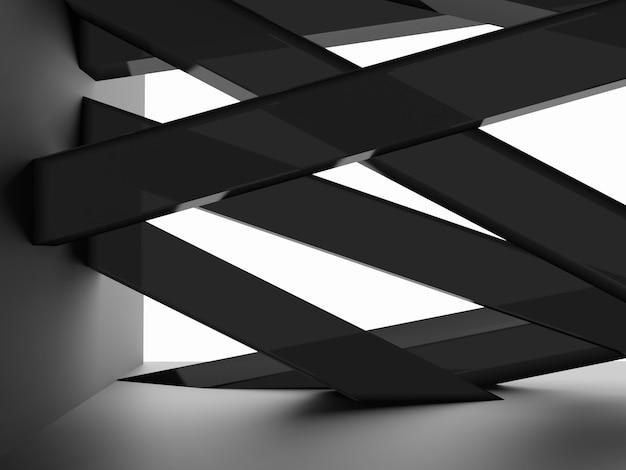 Fond d'affichage de produit de rendu 3d avec des bâtons acryliques noirs transparents pour l'électronique