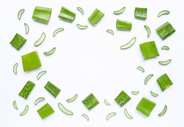 Fond d'aloe vera, une plante médicinale populaire pour la santé et la beauté