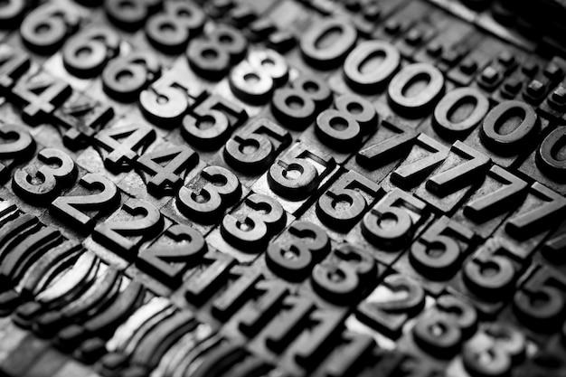 Fond alphabet et numéro de typographie vintage