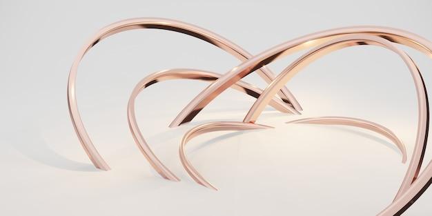 Fond d'anneau de paillettes abstrait toile de fond blanc 3d illustration
