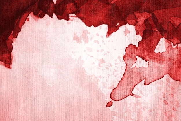 Fond aquarelle abstrait rouge vif avec un espace pour le texte