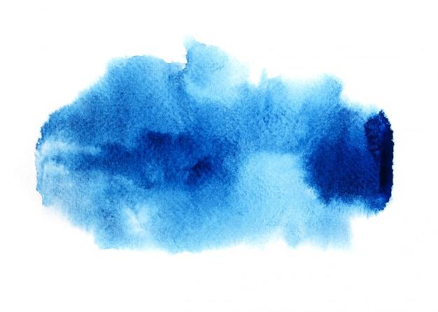 Fond aquarelle bleu.