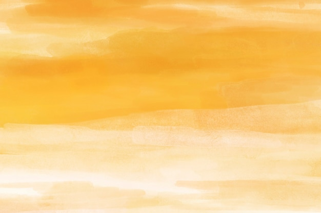 Fond aquarelle, conception abstraite de papier peint de bureau jaune