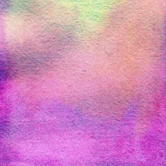 Fond aquarelle dégradé rose-violet avec des taches, des points, des cercles flous. illustration dessinée à la main